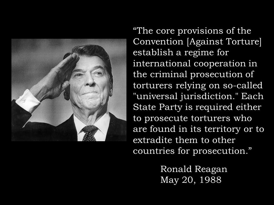 Reagan on Torture